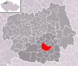 Location of Roudnice nad Labem