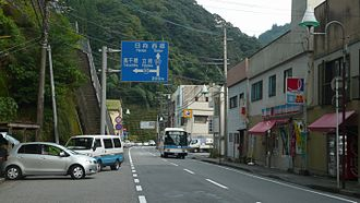 Morotsuka, Miyazaki - Image: Route 327 Morotsuka 01