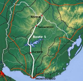 Route 5 (Uruguay) highway in Uruguay
