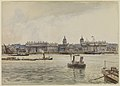 Royal Naval College, Greenwich, from the river RMG PW7611.jpg