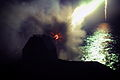 "Royal Navy Frigate HMS Sutherland Conducts Night Firings with 4.5"" Gun MOD 45153013.jpg"