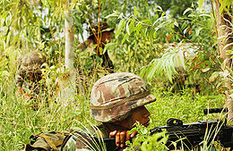 Royal Thai Army soldiers in woods 2006