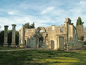 Ruins of the Ancient Synagogue at Bar'am.jpg