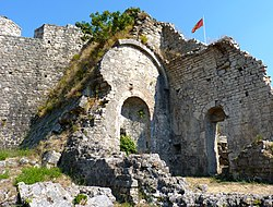 Ruins with flag in Stari Bar.jpg