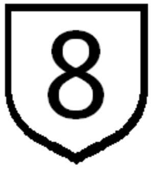 Route 10 (Paraguay) - Image: Ruta 8 paraguay sign