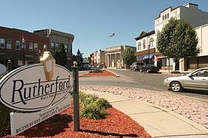 Rutherford, New Jersey - Welcome to Rutherford sign