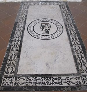 Optima - Image: S. croce, tomba sul pavimento 14 berti
