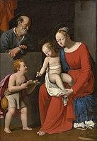 SARACENI Carlo La Vierge à l'Enfant avec St Jean et St Joseph.jpg
