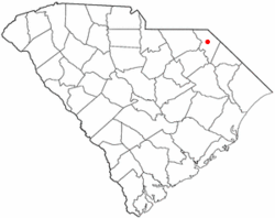 Location of Bennettsville in South Carolina