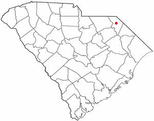 Bennettsville, South Carolina - Image: SC Map doton Bennettsville