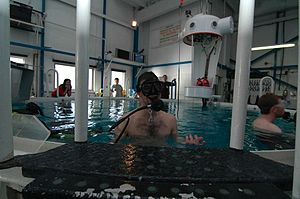 Submarine escape training facility - Top of the SETT pool