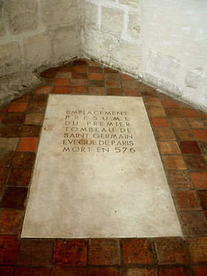 Germain of Paris - Germain's tomb, Chapelle St Symphorien