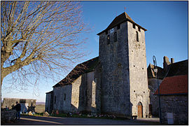 SOULOMES (Lot) - Eglise Sainte-Marie-Madeleine (vue Nord-Ouest).jpg