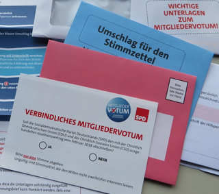 SPD party member vote on the 2018 coalition agreement of Germany