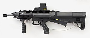 ST Kinetics - The Bullpup Multirole Combat Rifle on display at the Singapore Airshow 2014