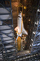 STS-135 Atlantis is lowered into place 1.jpg
