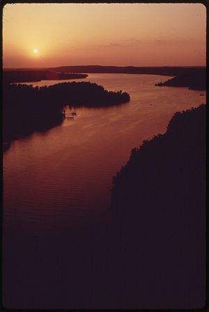 SUNSETS ON AN INLET OFF THE MAIN OSAGE ARM OF ...