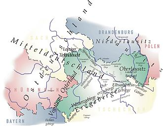Ore Mountains - The Ore Mountains and adjacent regions