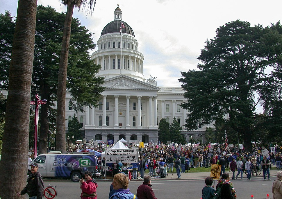 Sacramento Peace rally