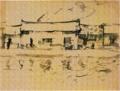 SaekiYūzō-1927-Landscape in Korea.png