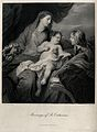 Saint Catherine. Line engraving by W. Ridgway after Sir A. v Wellcome V0031818.jpg