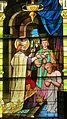 Saint Remy Catholic Church (Russia, Ohio) - stained glass, Saint Remigius baptizing Clovis I.jpg