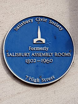 Salisbury assembly rooms plaque (salisbury)