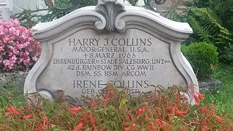 Petersfriedhof Salzburg - Gravestone of General Harry J. Collins in Salzburg