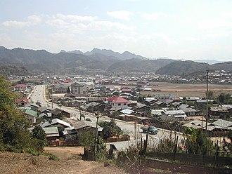 Xam Neua - Image: Sam Neua town overview