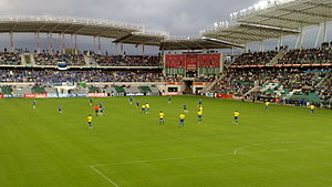 Estonia national football team - Estonia – Brazil at the A. Le Coq Arena. 1–0 win for Brazil, 12 August 2009.