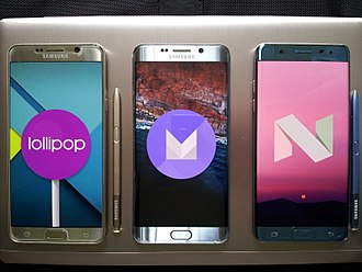 Mobile operating system - Google Android 5.0, 6.0 and 7.0