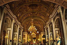 The interior of San Agustín Church in Manila.