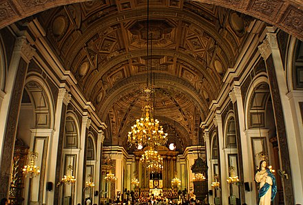 Interior of the San Agustin Church - Philippines
