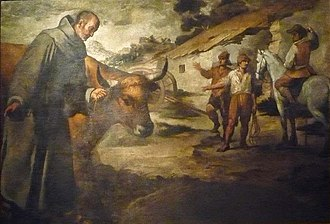 Francis Solanus - Saint Francisco Solano and the Bull, by Murillo