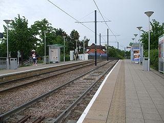 Sandilands tram stop tram stop in London Borough of Croydon, UK
