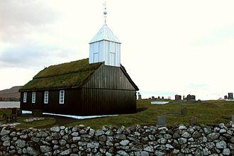 Sandur, Faroe Islands - Image: Sandur church