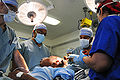 Sanjay Gupta & medical team prepare for brain surgery on USS Carl Vinson (CVN-70) 2010-01-18.jpg