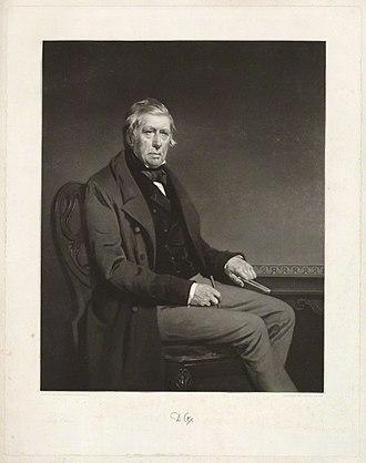 David Cox (artist) - The elderly Cox pictured by Samuel Bellin in 1855.