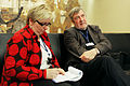 Sari Peltttari-Heikka intervjuar Claes Andersson vid Nordiska Radets session i Oslo. 2007-11-01. Foto- Magnus Froderberg-norden.org.jpg