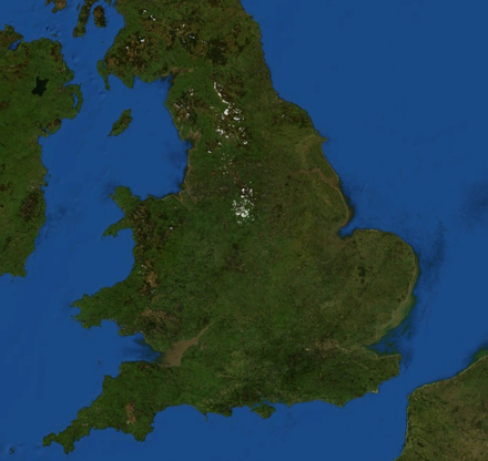 England and Wales from space