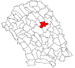 Location of Săveni