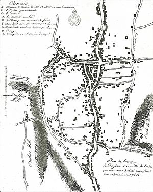 Jean-Baptiste Say - Map of Croydon, drawn by the 18-year-old Say in 1785