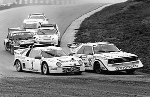 Ford RS200 - RS200 and Audi Quattro S1 competing in rallycross