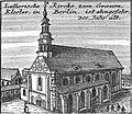 Schleuen - Luthersiche Kirche zum Gauen Kloster 1757.jpg