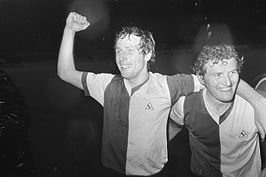Dick Schneider (links) en Wim Jansen, 27 mei 1971