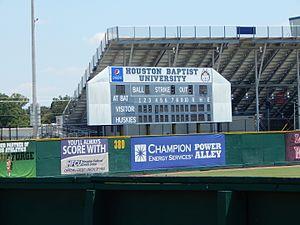 Husky Field - Image: Scoreboard, Husky Field Baseball