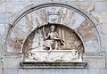 Scuola pisana, resurrezione sulla facciata del duomo di pietrasanta, XIV-XV secolo.JPG