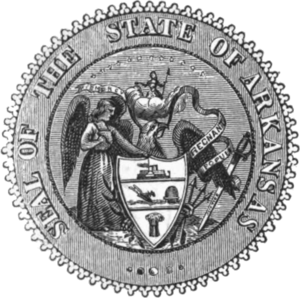 Seal of Arkansas - Seal of Arkansas from 1864 to 1907.