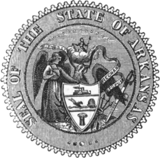 Arkansas in the American Civil War - Image: Seal of Arkansas (1864 1907)