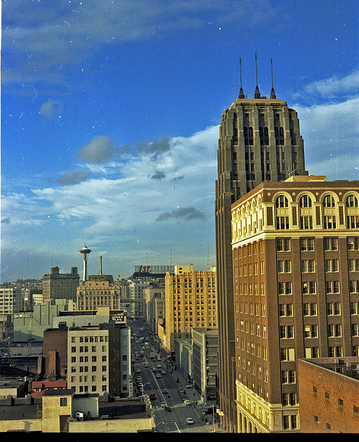 Seattle, looking north on Third Avenue, 1968